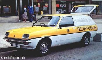 Rediffusion ( Vauxhall Chevette ) Television Service Van