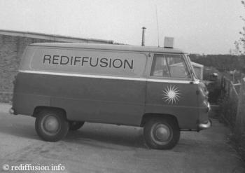 Rediffusion ( Red and Grey Ford Thames 15cwt ) Television Service Van