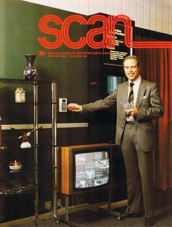 Cyril Proudly Demonstrating System 8 Featured on The Front Cover Of Scan Magazine 1983
